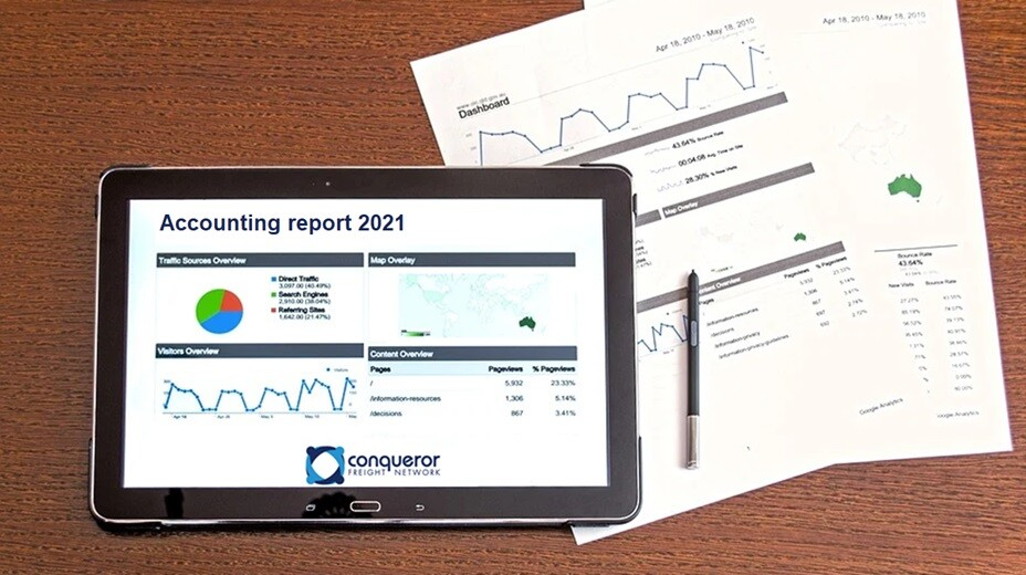 Reports for freight forwarders