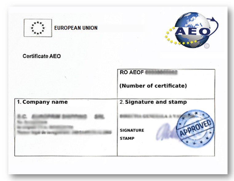 AEO Certificate for independent freight forwarders