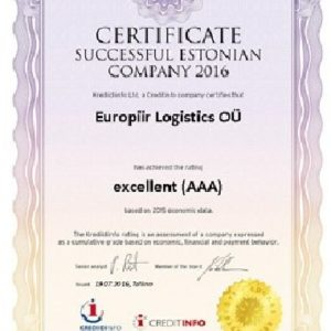 Excellent AAA ratings awarded to CQR Tallinn