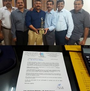 CQR Delhi awarded by Container Corporation of India