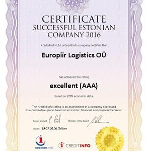 EXCELLENT AAA CREDIT RATING AWARDED TO CQR TALLINN