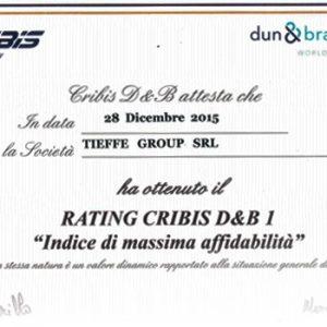 DUN & BRADSTREET AWARDS CQR LIVORNO TOP RATING