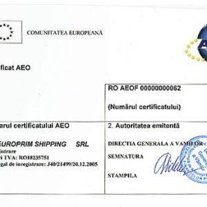 CQR Constanta is AEO certified