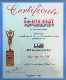EXIM names CQR Kandla 'Freight Forwarder of the Year' 2014