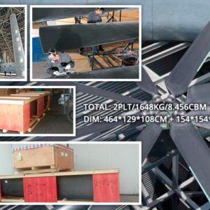 CQR Shenzhen ships 1.68 MT blade