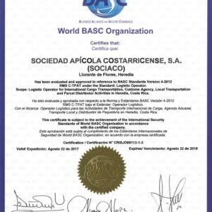 CQR member in San Jose has been awarded the BASC certificate