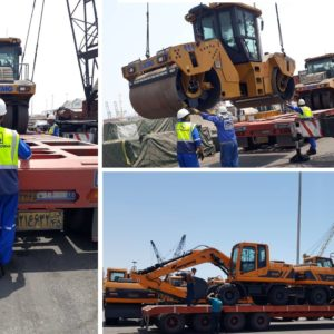 Conqueror member in Bandar Abbas and Tehran handled a project shipment consisting of 257 units of road constructing trucks and equipment