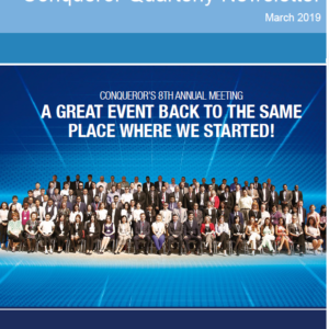 The spring edition of Conqueror's quarterly newsletters is now published and available for viewing