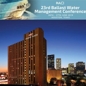 Conqueror partners with ACI 23rd Ballast Water Management Conference