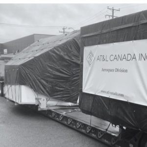 Conqueror Montreal handles a shipment of a turnkey door-to-door operation for the movement of a flight simulator amidst a heavy snowstorm