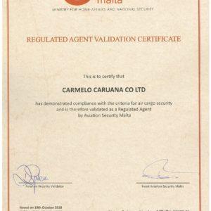 Conqueror member in Valletta, Malta, obtains Airlines Security Management Certificate