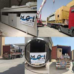 Conqueror Cairo safely delivers an out of gauge DDP shipment to the grounds of the client's factory