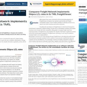 FreightViewer's new tool announcement has been covered in several logistics webzines