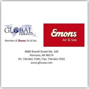 Global Fairways LLC changes into Emons Air & Sea, LLC