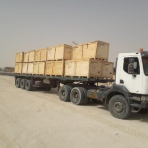 Conqueror Nouakchott moves 168 units of trucks, trailers, military equipment, excavators, and other rolling materials